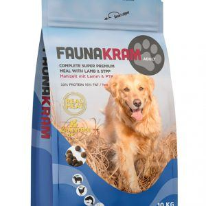 10 kg FAUNKRAM Lam/Kylling til voksen hund - kornfri
