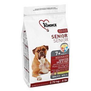 1st Choice Senior hundefoder Lam & Brune Ris, 2,72 kg