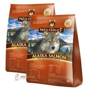 2 x 15 kg. Wolfblut Alaska Salmon Adult storkøb rabat