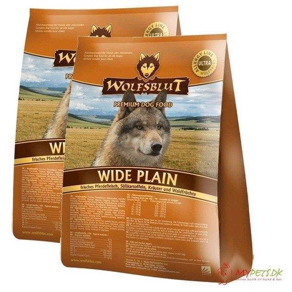 2 x 15 kg. Wolfblut Wide Plain Adult storkøb rabat