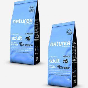 2x12 kg Naturea Naturals Adult m/ Laks