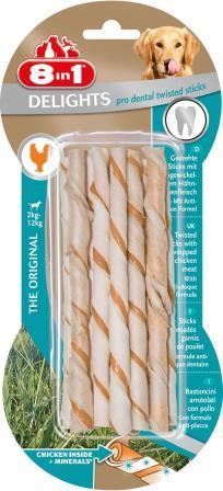 8in1 Delights Twisted Sticks Dental chicken 10stk