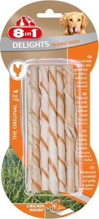 8in1 Delights Twisted Sticks chicken 10stk