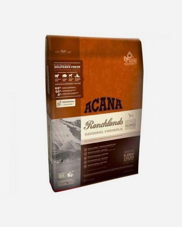 ACANA Ranchlands med okse, bison, lam, gris & fisk, 11.4 kg
