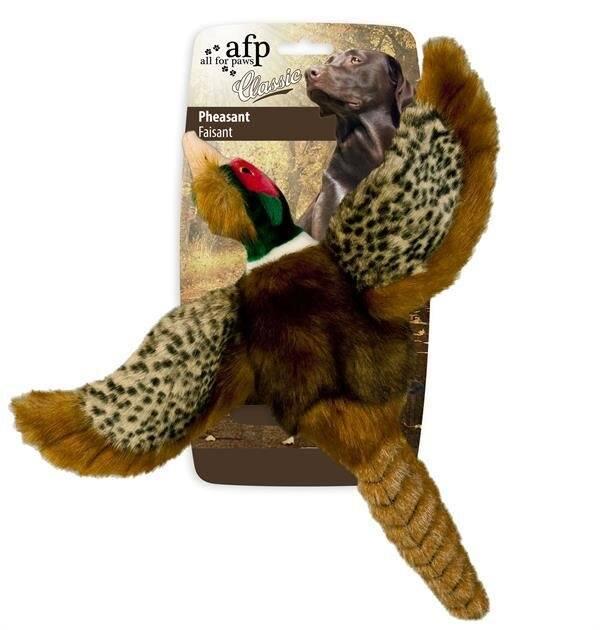 AFP Hundelegetøjs Fasan - 25cm - Med Pivelyd