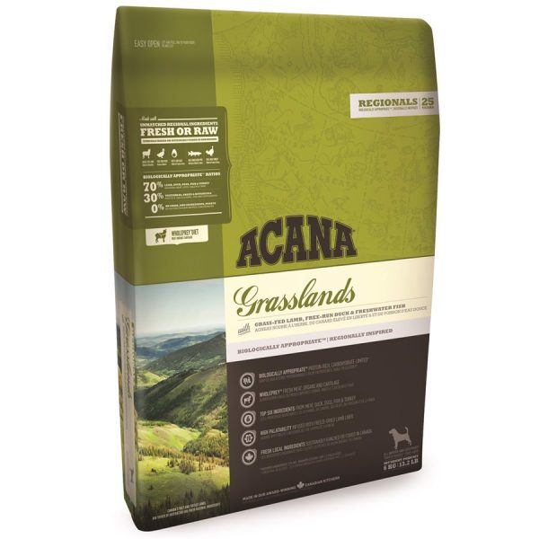 Acana Grasslands hundefoder, Regionals, 340 gr.