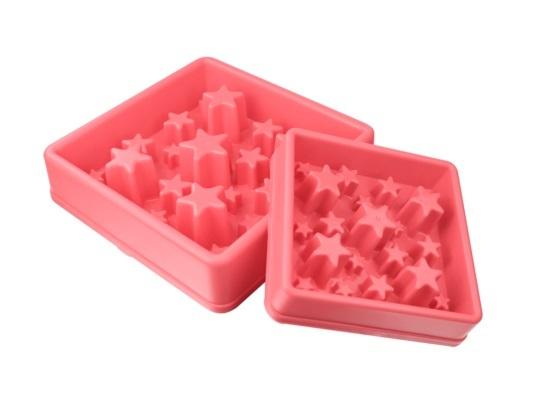 Aktiverings foderskål - Star Small Pink