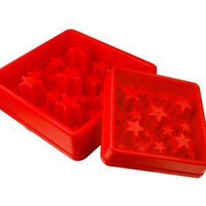 Aktiverings foderskål - Star Small Rød
