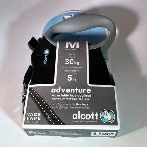Alcott Flexline - Soft Grip m/bånd og refleksstriber, str. M - 30 kg / 5 mtr