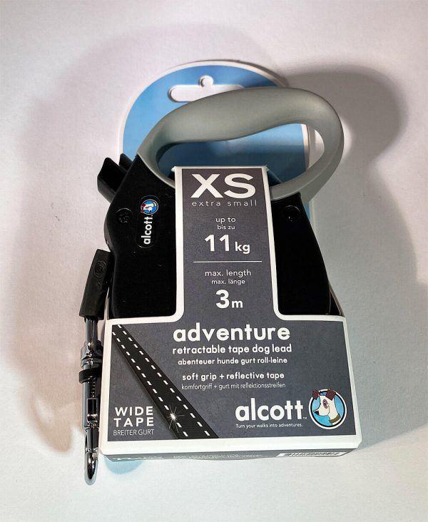 Alcott Flexline - Soft Grip m/bånd og refleksstriber, str. XS - 11 kg / 3 mtr