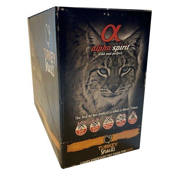 Alpha Spirit Cat Turkey Snack, 16 x 35g pakker