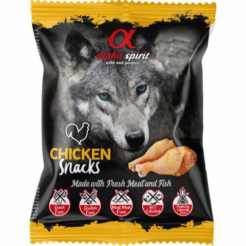 Alpha Spirit, kornfri - Chicken snack m. frisk kød/fisk