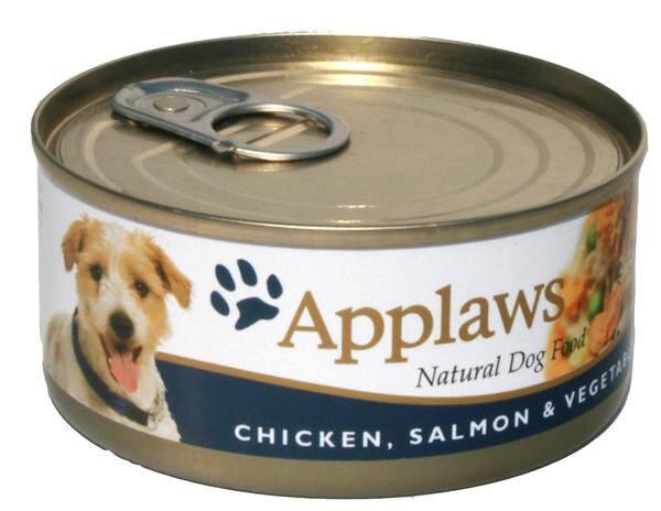 Applaws Hunde Vådfoder Kylling - Med Laks og Grøntsater - 156g - 100% Naturligt - - - -