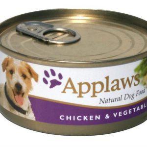 Applaws Hunde Vådfoder Kyllinge - Med Grøntsater - 156g - 100% Naturligt - - - -