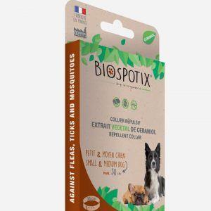 Biospotix halsbånd mod lopper og tæger - små hunde - small (38 cm)