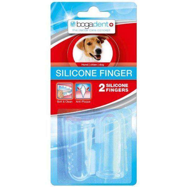 Bogadent Silicone Finger til hund, 2 stk