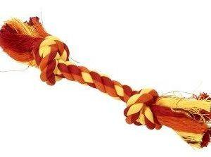 Buster Colour dental rope 15cm orange/gul