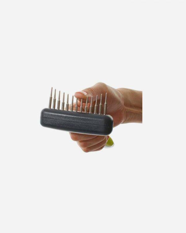 Buster fleksibel underpelsbørste med lange tænder
