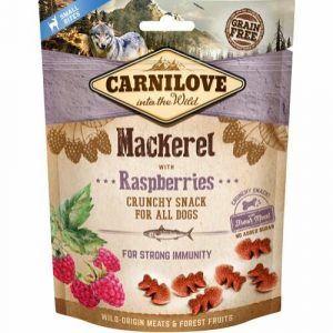 Carnilove Crunchy Snack Makrel & Hindbær - Small Bites, 200 g