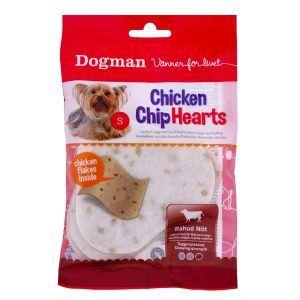 Chicken Chip Hearts, tyggehjerter 4 stk. til små hunde - 30 g