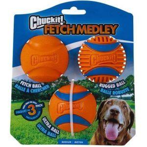 Chuckit Fetch Medley (3 forskellige bolde)