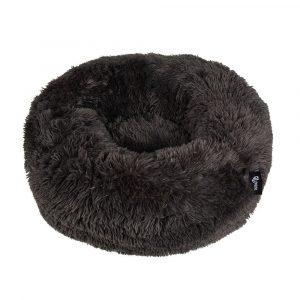District 70 Fuzz Fluffy Donut Hundeseng, Dark Grey