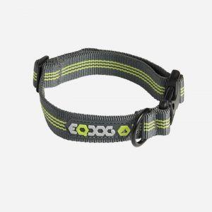 EQDOG Classic Collar - Nylon - Grå/Grøn, Medium