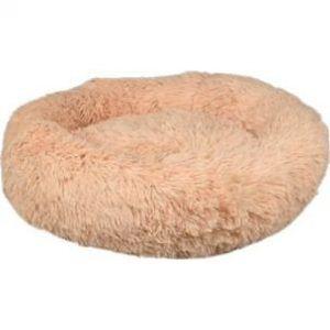 Flamingo Donut Fluffy Hundeseng - Cream - Ø50cm