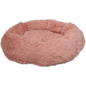 Flamingo Donut Fluffy Hundeseng - Old Pink- Ø50cm