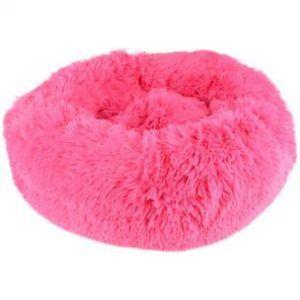 Flamingo Donut Fluffy Hundeseng - Rose - Ø50cm