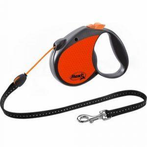 Flexi Neon Reflect snor Orange M (max. 20kg), 5m
