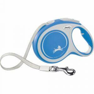 Flexi New Comfort, Blå, udtrækkelig flad hundesnor