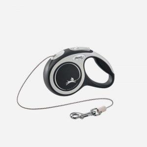 Flexi New Comfort - Line - Grå/Sort - Alle Str, Medium - 5m (max. 20kg)
