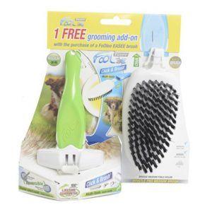 FoOlee Easee Duopack m/blød børste til hund, str. medium, fv. grøn