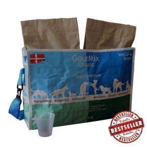 GourMix Classic i taske - dansk kornfrit hundefoder, 8 kg