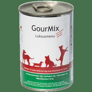 GourMix luksus dåsemad med oksekød, hund, 400g