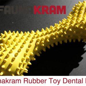 Gummi Toys, godt og solidt gummilegetøj, dental bone, str. 161 mm X 72 mm. ASS. FARVER