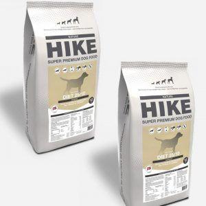HIKE Diæt - Kornfrit og Dansk, 2x12kg