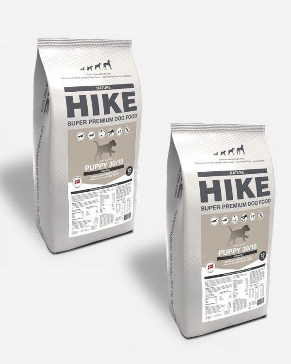 HIKE Hvalp - Kornfrit og Dansk, 2x12kg