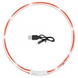 Halsbånd Visio Light LED Rød/Hvid