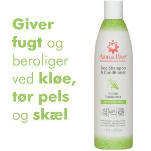 Hundeshampoo 2i1 allergivenlig Palmarosa