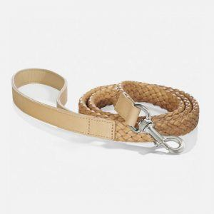 Hundesnor i læderflet (Beige) - Venezia - 120 cm