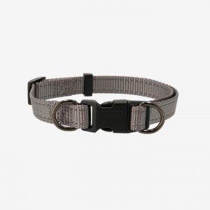 Justerbart Nylon Halsbånd - Dogman - Grå, 22-35cm 10mm