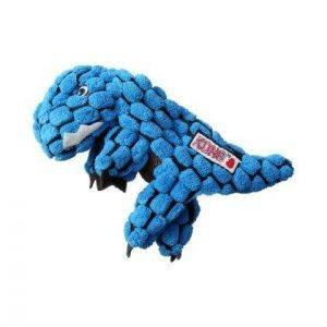 Kong Dynos Hundelegetøjs Bamse T-Rex i Plys - X-Small - 15cm - Med Pivelyd - - - -