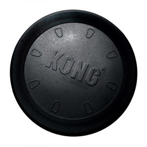 Kong Frisbee i blødt gummi - SORT