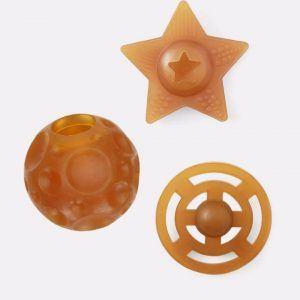 Legetøjs set af naturgummi - Universe trio - Hevea