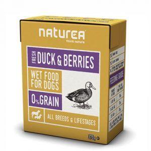 Naturea Vådfoder til hund, and og blåbær