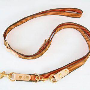 Orange / Grøn dressurline til hunde, 250 cm