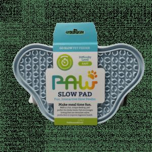 Paw Slowfeeder i silikone Baby Blå