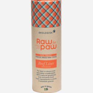 Raw for paw - Okse lever (Økologiske godbidder) - 38 g